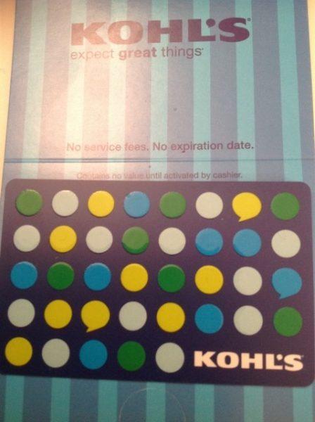Kohl's, gift card