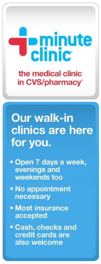 """CVS, MinuteCLinic"""