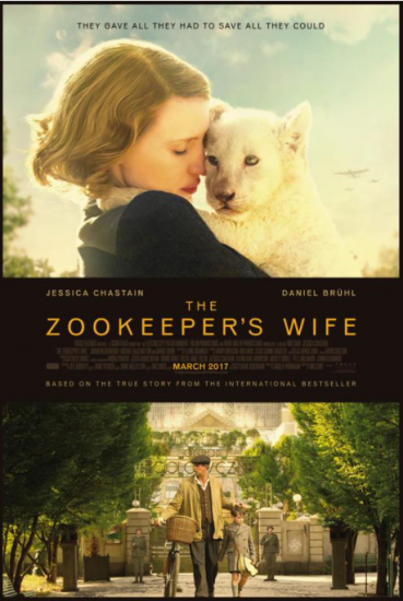 The Zookeepers Wife, Starring Jessica Chastain, Opens March 31!