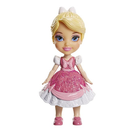 ney Princess Mini Toddler Cinderella Pink Dress Posable Doll!