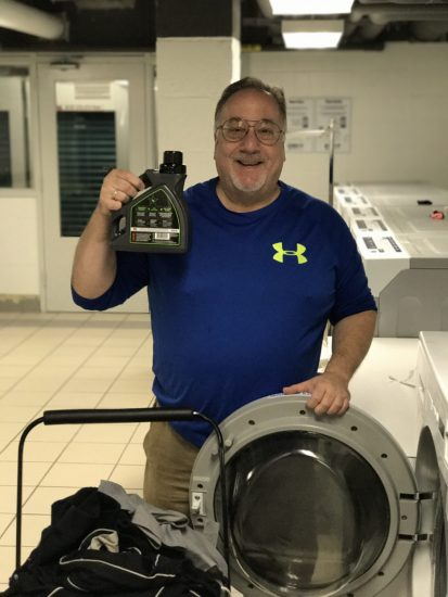 How A Man Does Laundry, With Hero Clean, Specially Formulated For A Man's Smell!