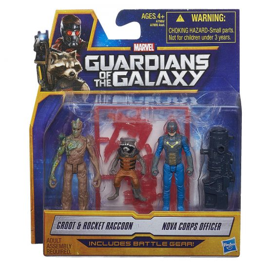 Guardians of the Galay Minifigures: Groot, Rocket Racoon, & Nova Corps Officer!
