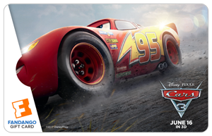 Giveaway – $25 Fandango Gift Card To Celebrate Cars 3! #cars3event @pixarcars #Cars3