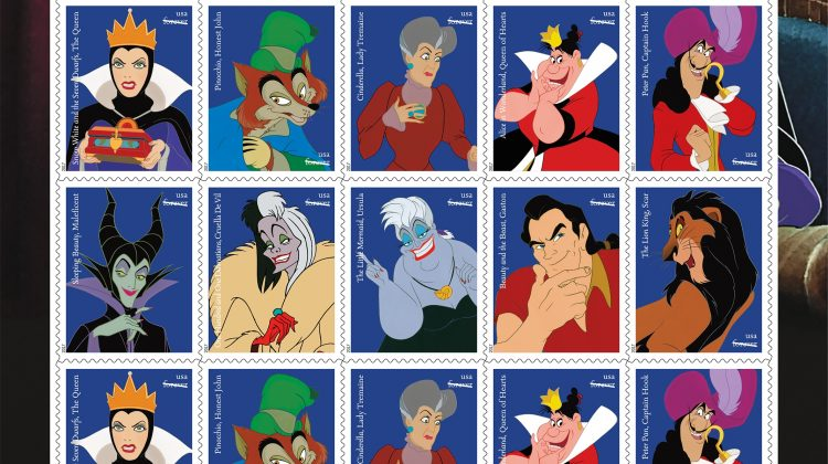 Disney Villains  Forever Stamps Release Tomorrow! #D23Expo #D23Expo2017 @DisneyD23