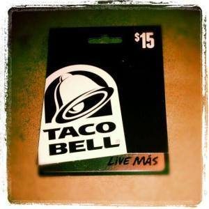 Giveaway -$15 Taco Bell Gift Card For August!