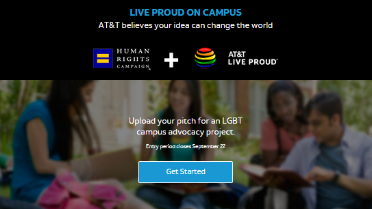 "AT&T Partners With The HRC For The ""Live Proud on Campus Scholarship!"" @ATT #ATTLiveProud #LiveProudScholar #LGBT"