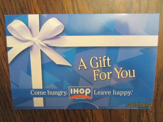 """IHOP gift card"""
