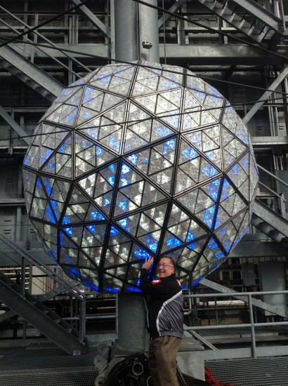 The New Years Eve Ball Being Held By Me!