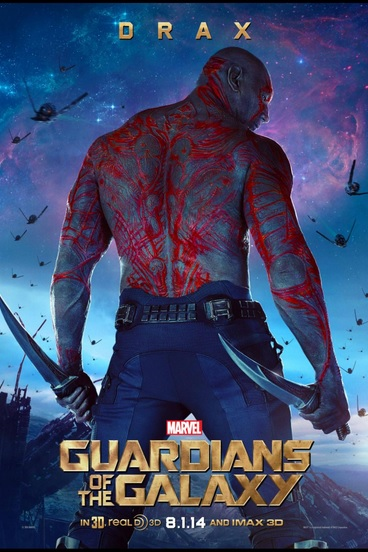 Drax Poster, Guardians of the Galaxy, Dave Bautista