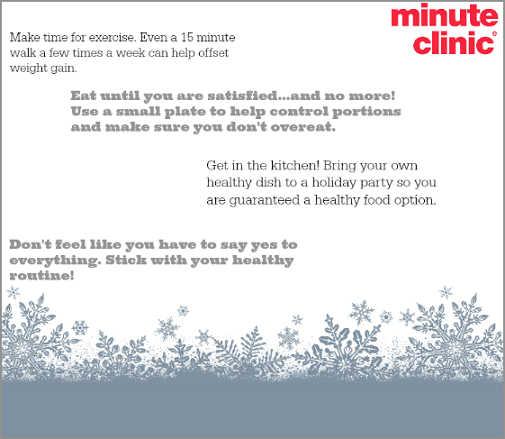 minuteclinic new years wellness campaign  weight loss
