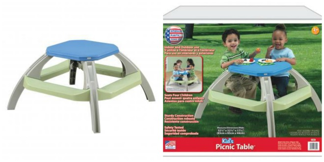 Giveaway kids picnic table from american plastic toys gay nyc dad zapicmonkey collage watchthetrailerfo