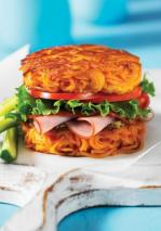 """Sweet Potato Bun recipe adds veggies and creativity to our meals"" Photo and recipe Courtesy of 150 Best Spiralizer Recipes by Jennifer Williams & Marilyn"