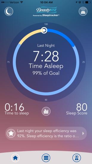 The @Beautyrest #SleepTracker Monitor Confirms, I Am Sleeping Well