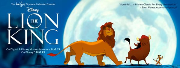 """""""The Lion King on Digital & Disney Movies Anywhere August 15th"""""""