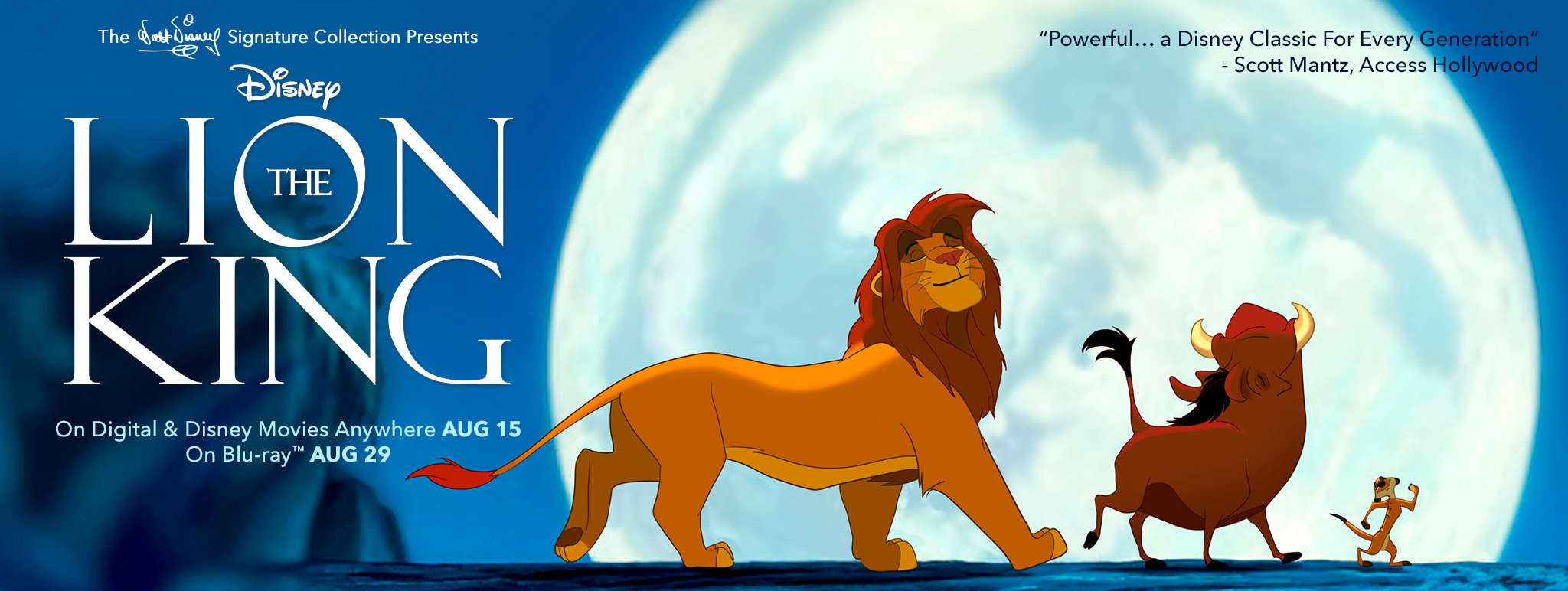 The Lion King on Digital & Disney Movies Anywhere August 15th
