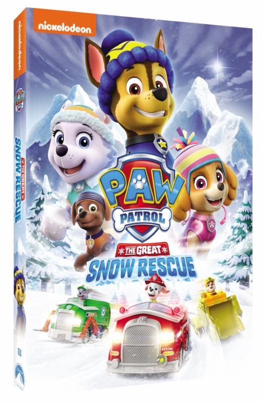 nickelodeondvd's paw patrol the great snow rescue dvd