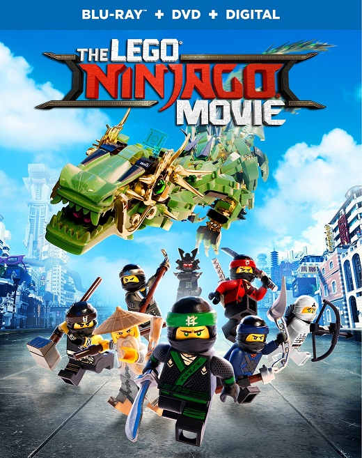 "The LEGO NINJAGO Movie"" Blu-Ray DVD Combo Pack, Coloring Sheets, And A Set  Of Figurines!"