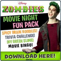 ZOMBIES on Disney DVD TOMORROW, April 24th! Celebrate With Movie Night Fun Pack Activities! #DisneyZOMBIES @DisneyChannelPR @DisneyChannel