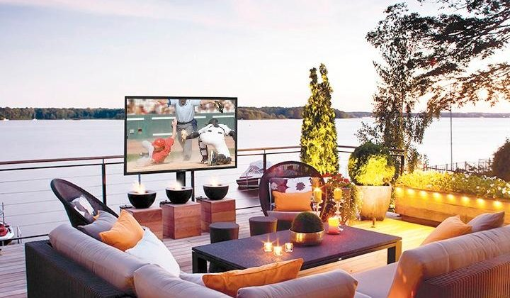 Your Dream Home Has A @SunBriteTV from @BestBuy Outside, On The Veranda! #ad