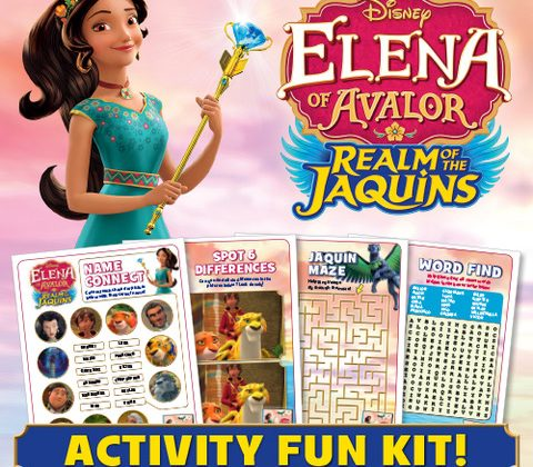 ELENA OF AVALOR: REALM OF THE JAQUINS Out On Disney DVD Now! Enjoy These Activity Sheets!