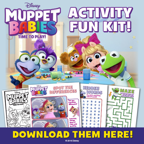 Muppet Babies: Time To Play! Now Available on Disney DVD! Plus A New activity button to celebrate!