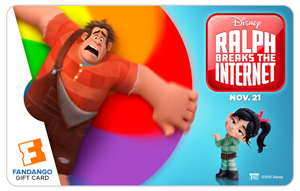 Fandango Gift Card to See Ralph Breaks The Internet!