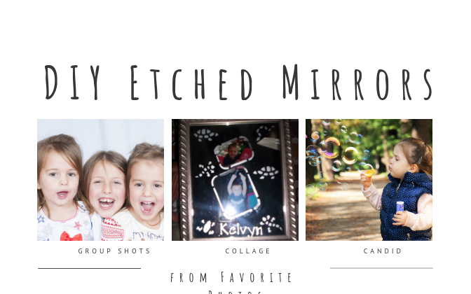 Etched Mirrors DIY, A Guest Post By The Fabulous Grace From @Blessed_Element! #DIY