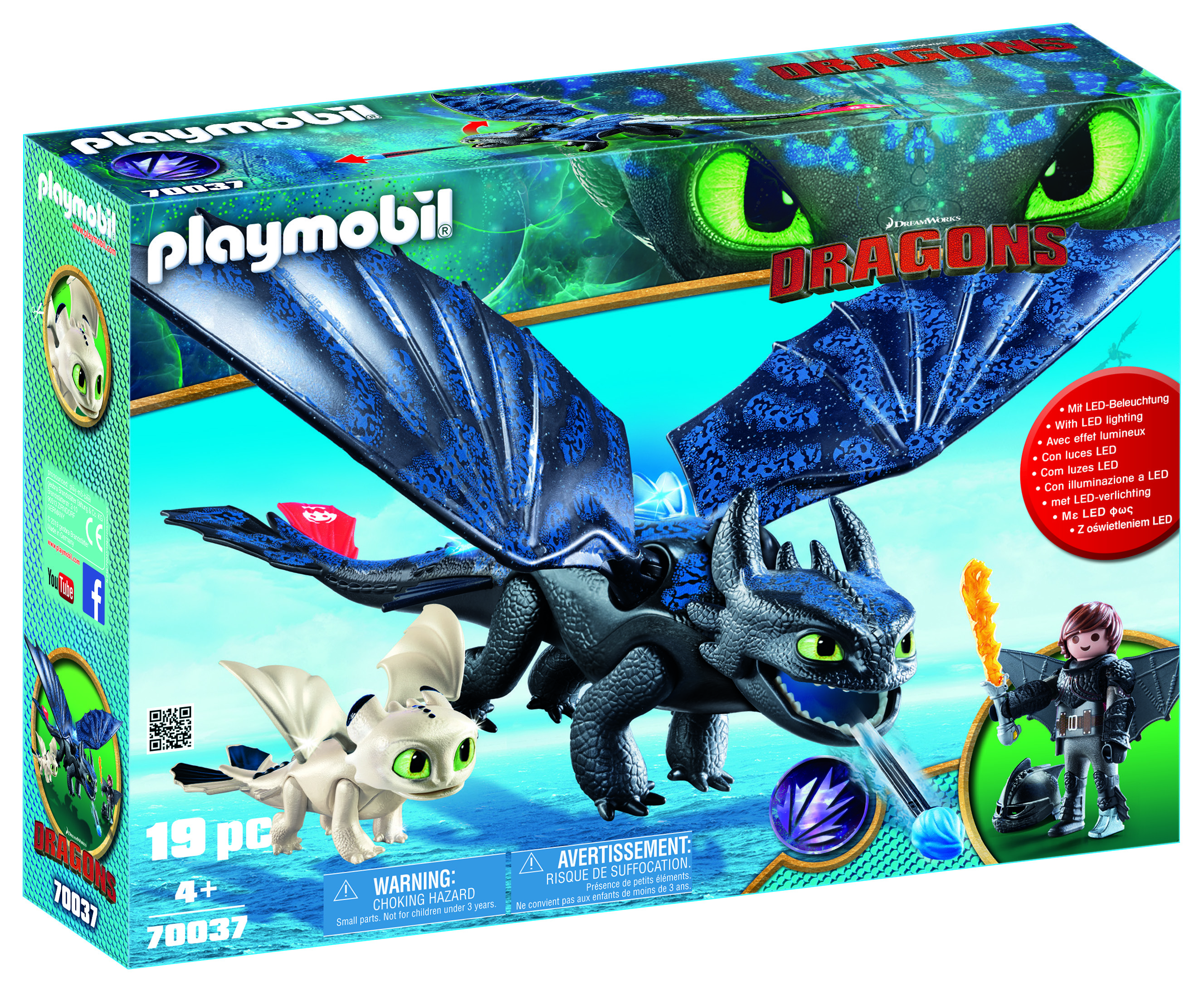PLAYMOBIL DreamWorks Dragons Hiccup & Toothless w/ Baby Dragon!