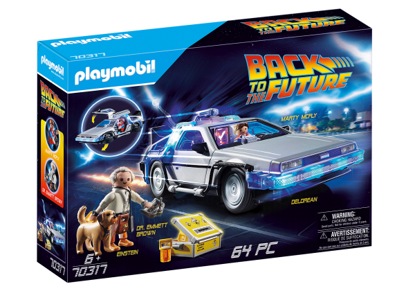 Back to the Future DeLorean & Figures Marty McFly and Dr. Emmett Brown Giveaway!
