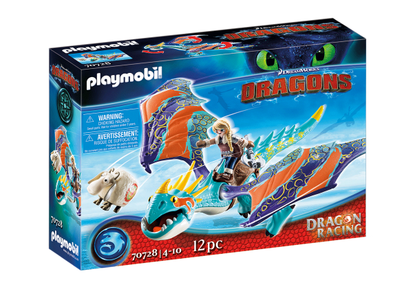 PLAYMOBIL Dragons Hiccup and Toothless & Astrid and Stormfly