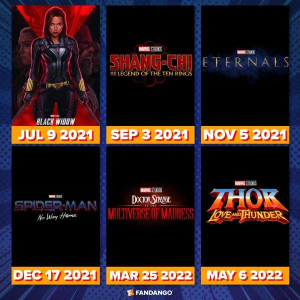 Marvel Movies Slate