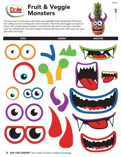 Dole Disney And Pixar Inspired Recipes And Activities For The Family